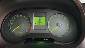 Skoda Rapid Facelift Interior Instrument Cluster