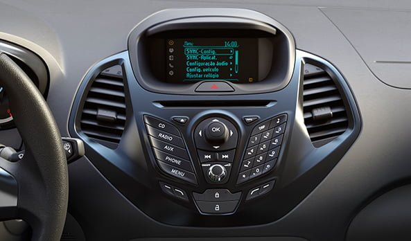 Fiesta like display and dial pad for the phone