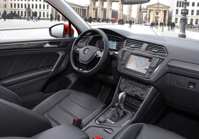 Volkswagen Tiguan India Launch, Price, Specifications, Mileage, Images volkswagen-tiguan-india-official-images-dashboard