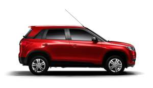 vitara Brezza Side red