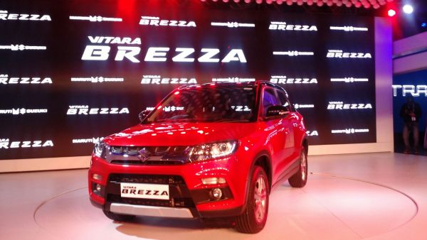 maruti vitara brezza petrol price review images front
