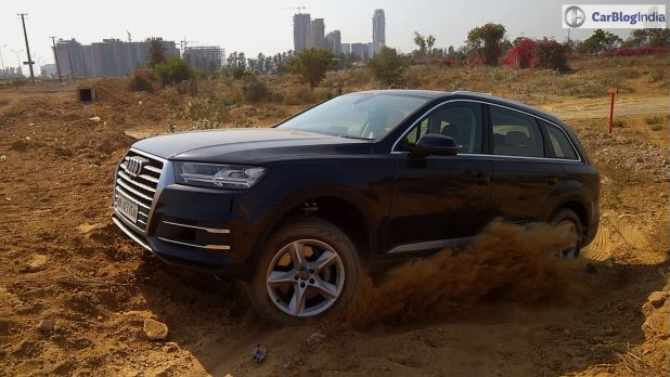 2016 Audi Q7 test drive review mud action