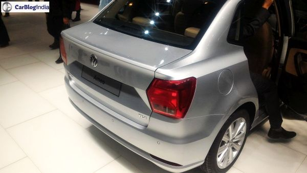 volkswagen ameo price to be around INR 5.25 lakhs, Launch in July 2016. Rear Angle Boot Picture from Auto Expo 2016