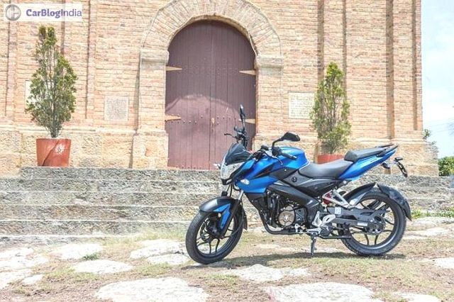 Bajaj Pulsar NS 160 Images-Blue-Side-Profile