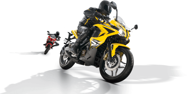 2014 Bajaj Pulsar RS400 Launch SS400 Front Right Quarter