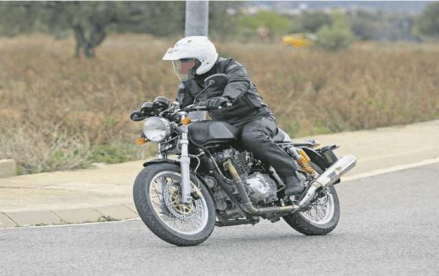 royal enfield continental gt 750 cc bike images front angle action photo