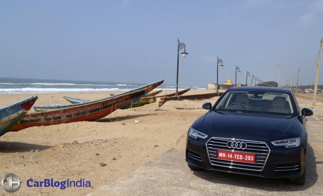 new 2016 audi a4 test drive review-india-images--front-angle