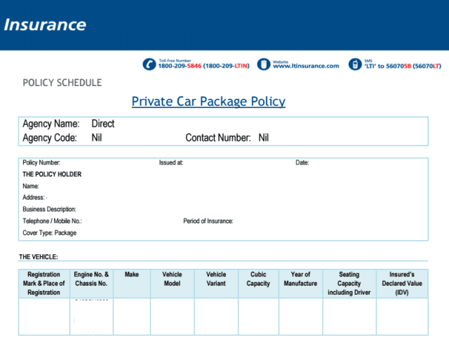 best car insurance policy india