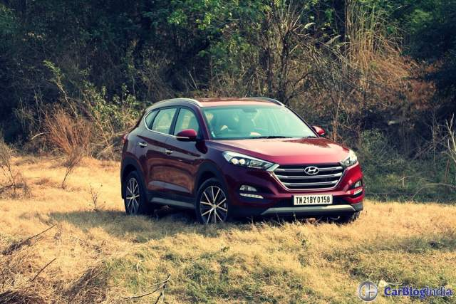 new hyundai tucson test drive review images front angle