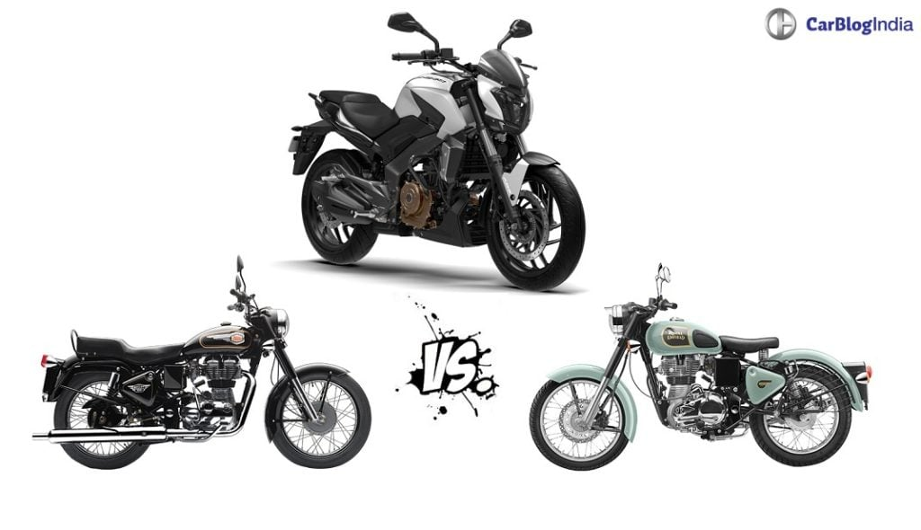 Bajaj Dominar 400 vs Royal Enfield 350 Comparison of Price