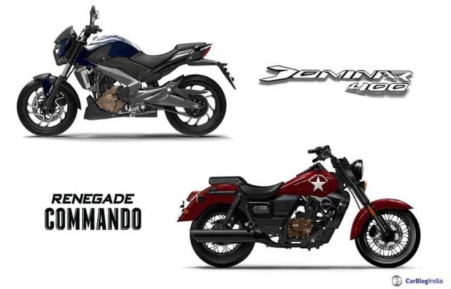 bajaj dominar 400 vs um renegade commando