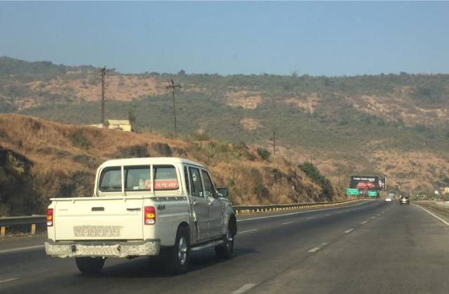 2017 mahindra scorpio getaway pick up spy shot