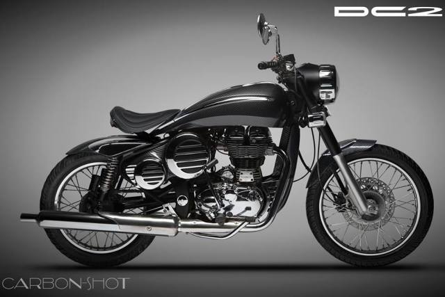 Modified Royal Enfield Classic by DC Design side