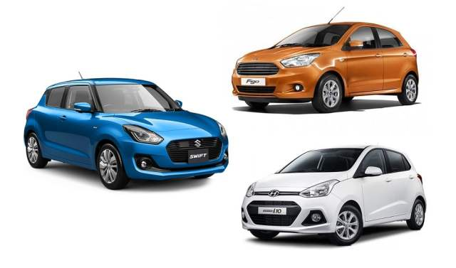 New 2017 Maruti Swift vs Hyundai Grand i10 vs Ford Figo Comparison