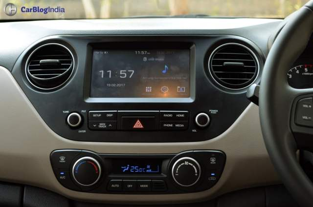 2017 hyundai grand i10 facelift test drive review touchscreen