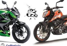 ktm duke 250 vs kawasaki z250 comparison