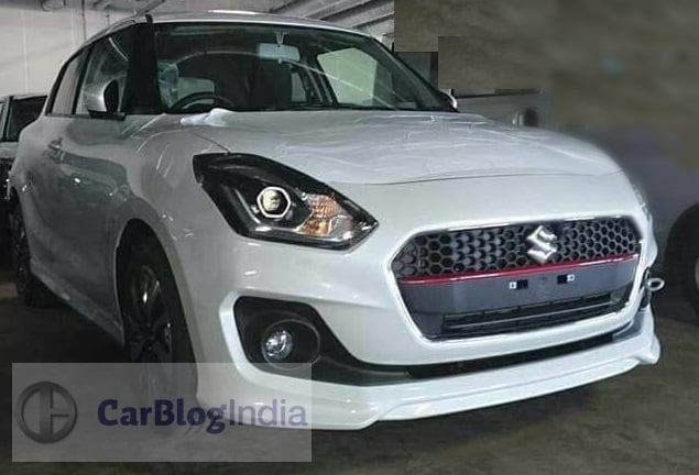 2018 maruti swift rs india front