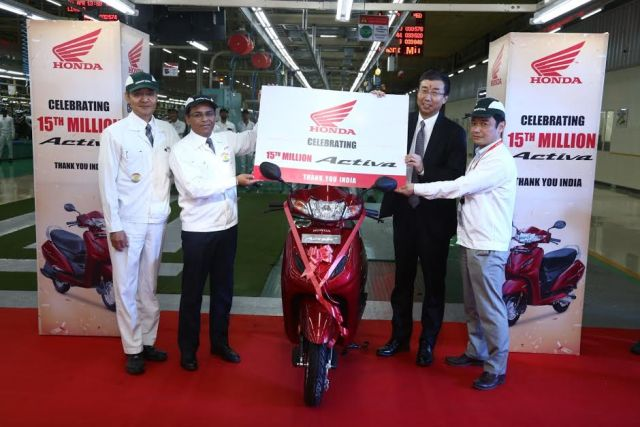 honda activa 15th million image