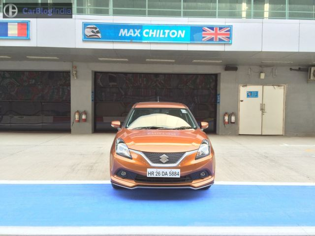 maruti baleno rs test drive review images front