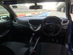 maruti baleno rs test drive review images interior dashboard