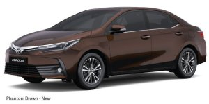 new toyota corolla altis 2017 colours phantom brown