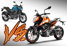 yamaha fz25 vs ktm 250 duke comparison