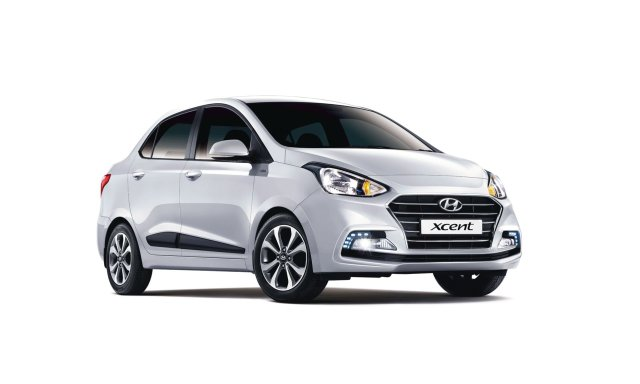 new look hyundai xcent 2017 front angle