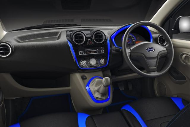 datsun go plus special anniversary edition interior dashboard images