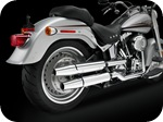 Softail, FLSTF, Fat Boy, exhaust pipes
