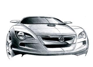 2004 Volkswagen Concept R sketch