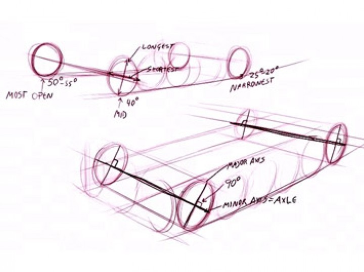 Drawing car wheels in perspective - Car Body Design