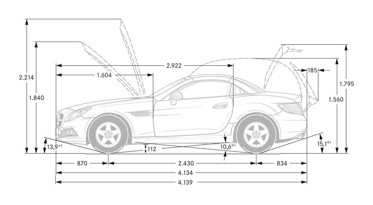 Automobile Dimension. automotive line drawings. motor