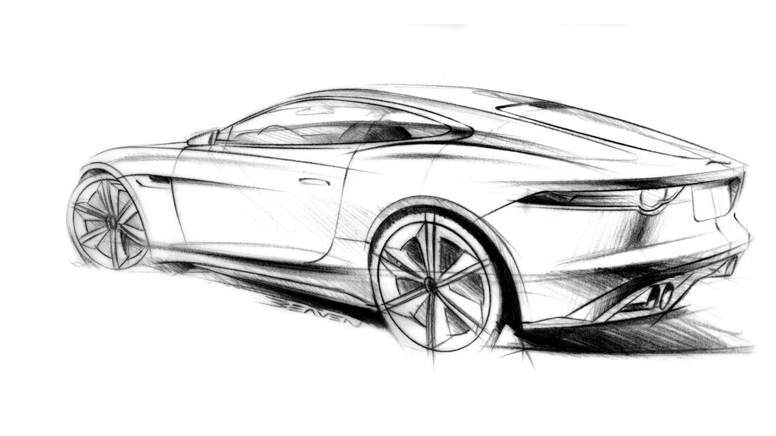 Jaguar C X16 Concept Design Sketch