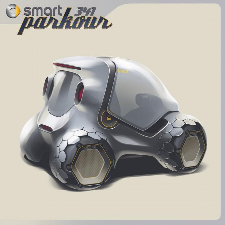 Smart 341 Parkour Concept Car Body Design