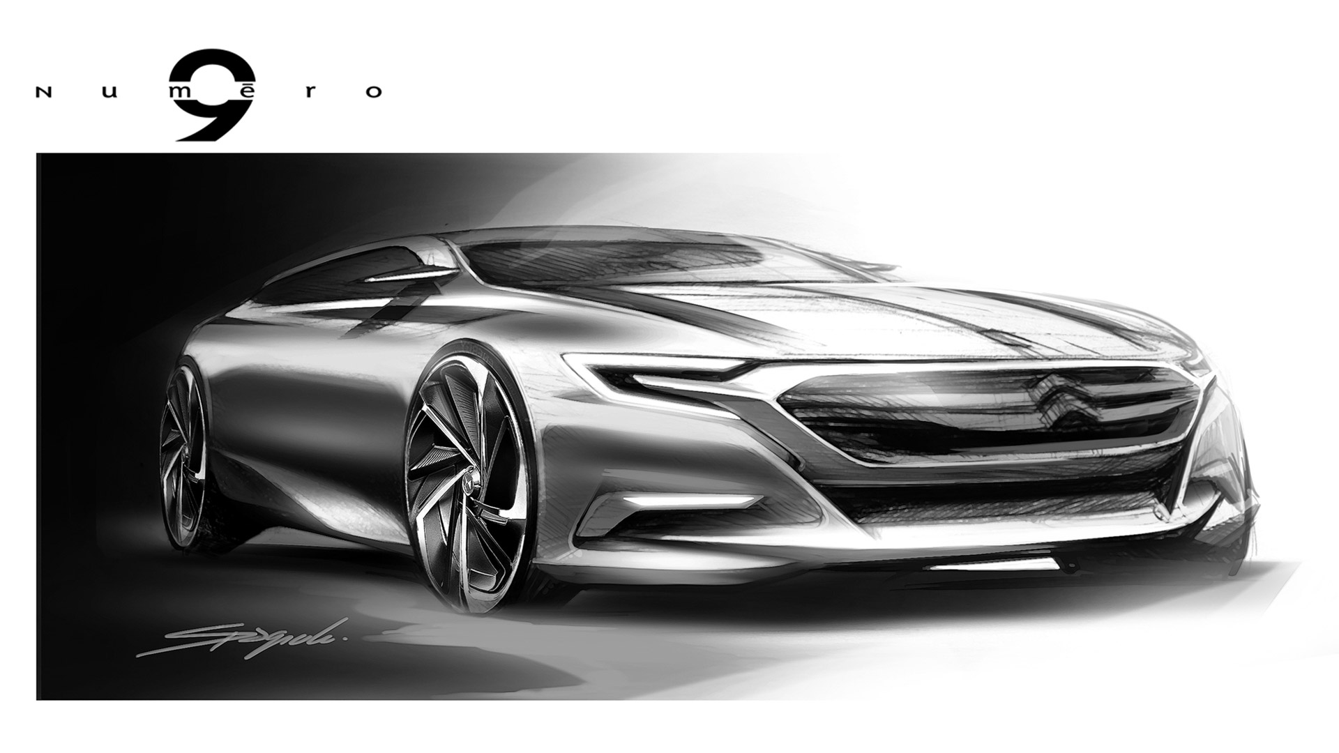 Citroen Numero 9 Concept Design Sketch Car Body Design
