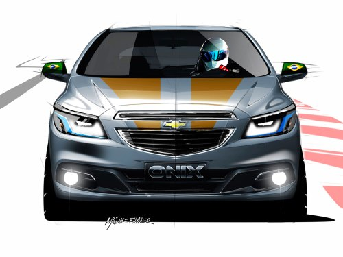 small resolution of chevrolet onix design sketch