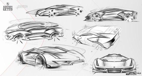 Ferrari Getto Concept Design Sketches - Car Body Design