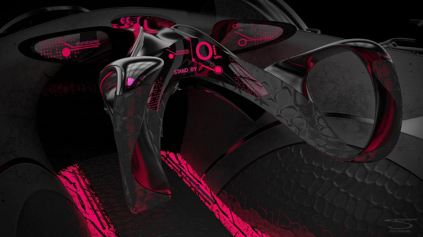 AlienWare Concept Car Interior Car Body Design
