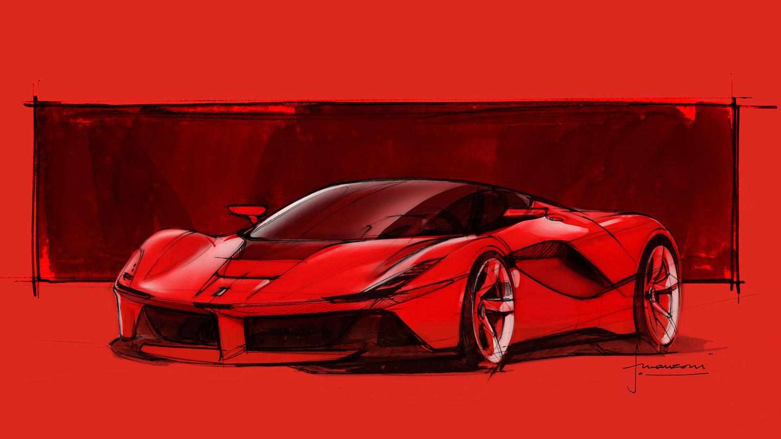 Laferrari Design Sketch By Flavio Manzoni Car Body Design