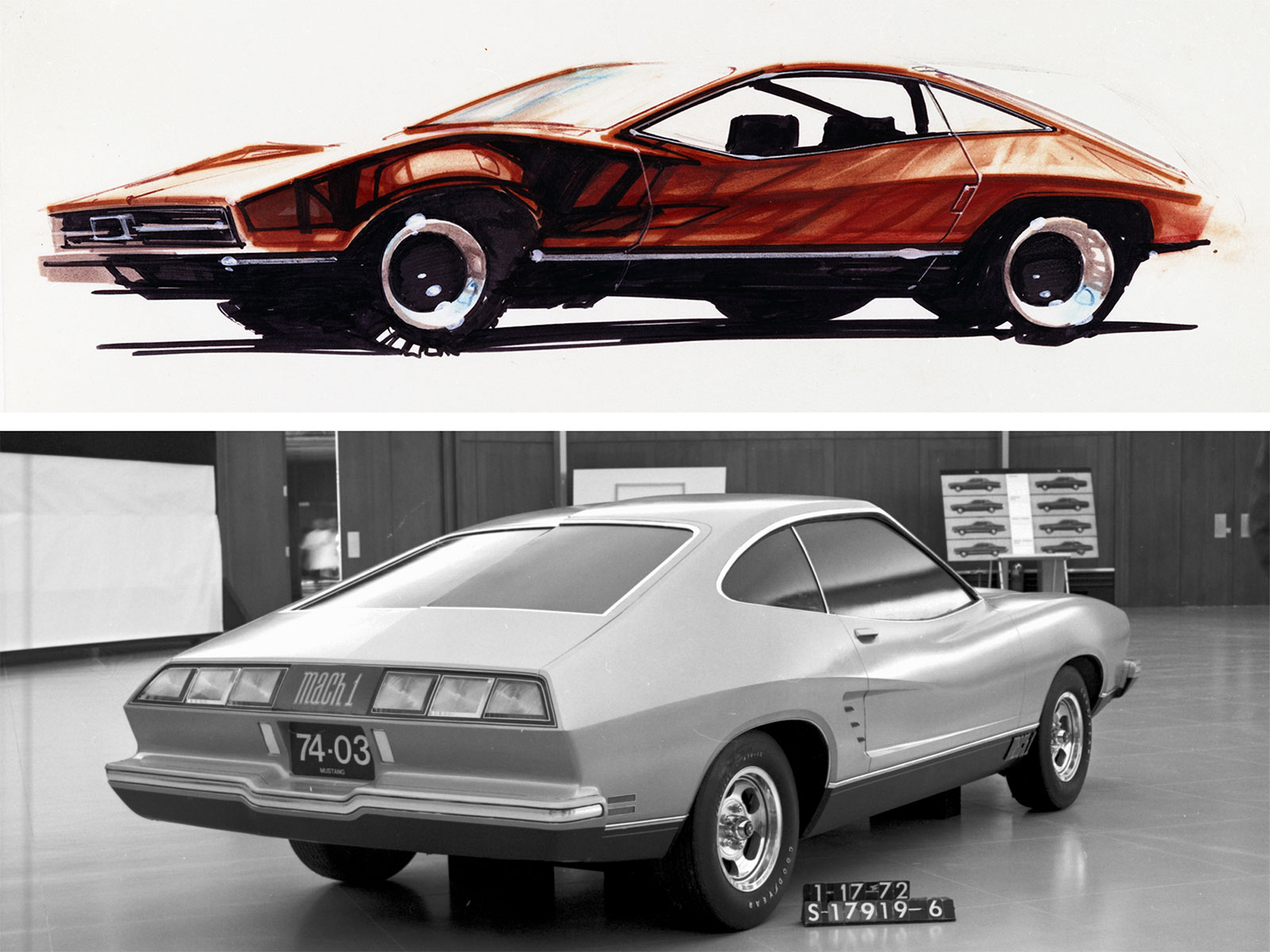 1974 Mustang II From Sketch To Production Car Body Design