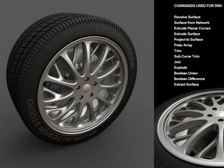 Modeling An Automotive Tire In Rhino V5 Car Body Design