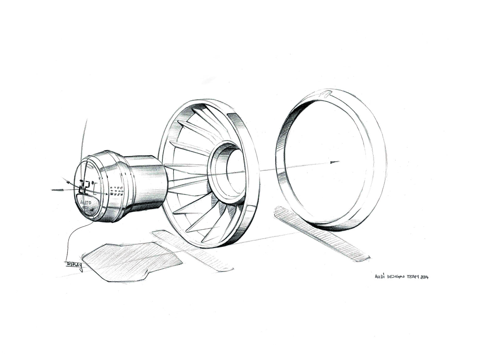 Audi Tt Offroad Concept Interior Design Sketch Air Vents