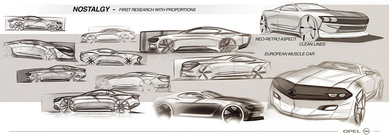 Opel Manta Concept Design Sketches Car Body Design