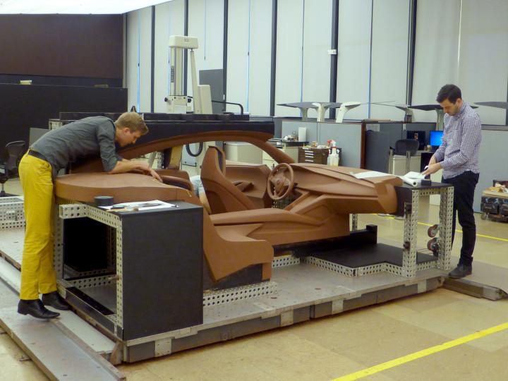 Buick Avista Concept - Interior Clay Model construction