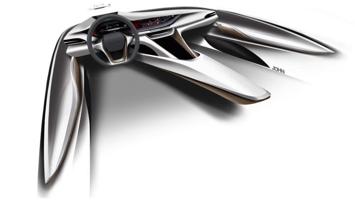 Buick Avista Concept - Interior Design Sketch Render