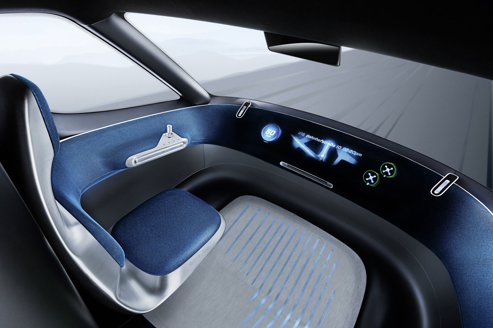 Mercedes Benz Vision Van Concept Interior Car Body Design