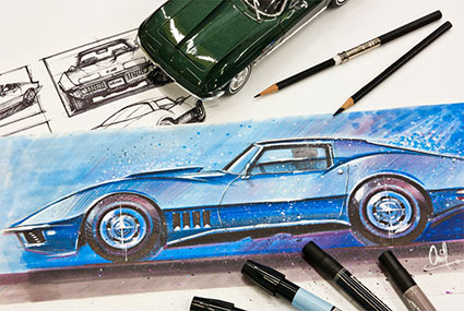 How to Draw Cars Now Digital Training Course