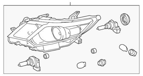 Toyota Headlamps USA CAMRY 2012 81150-06470 81110-06470