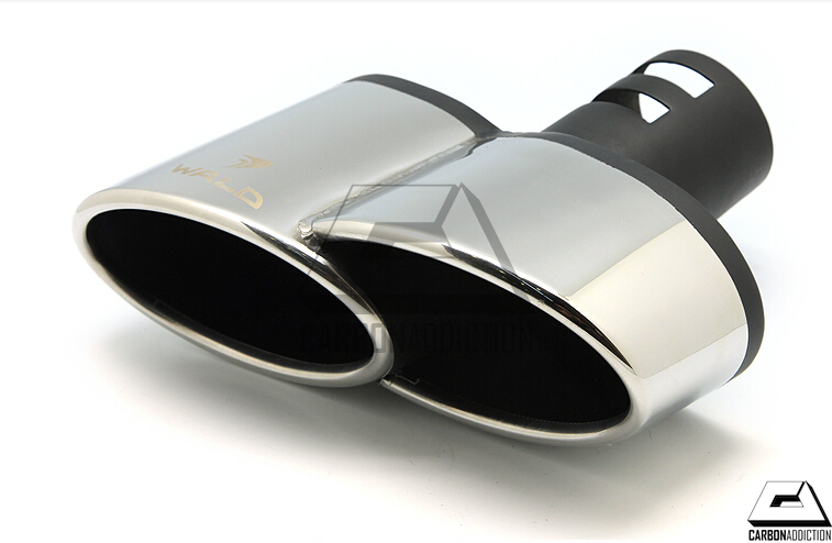 wald style dual exhaust tips