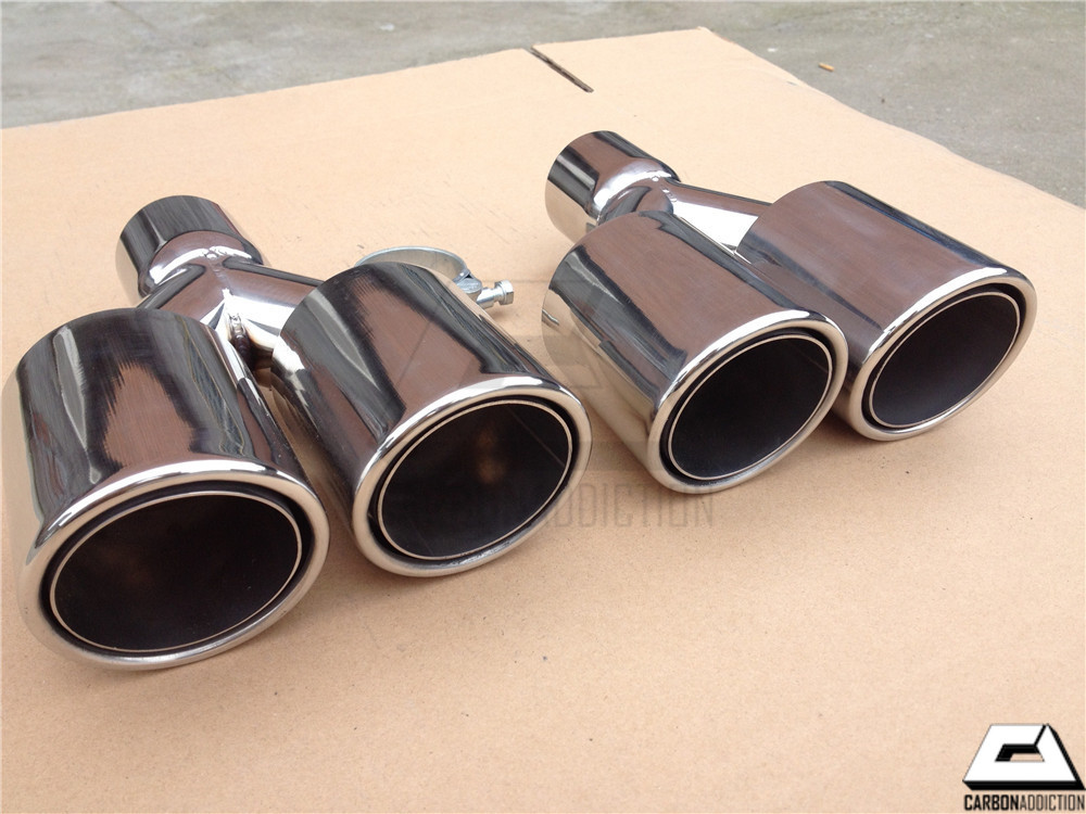 universal double layer chrome dual exhaust tips